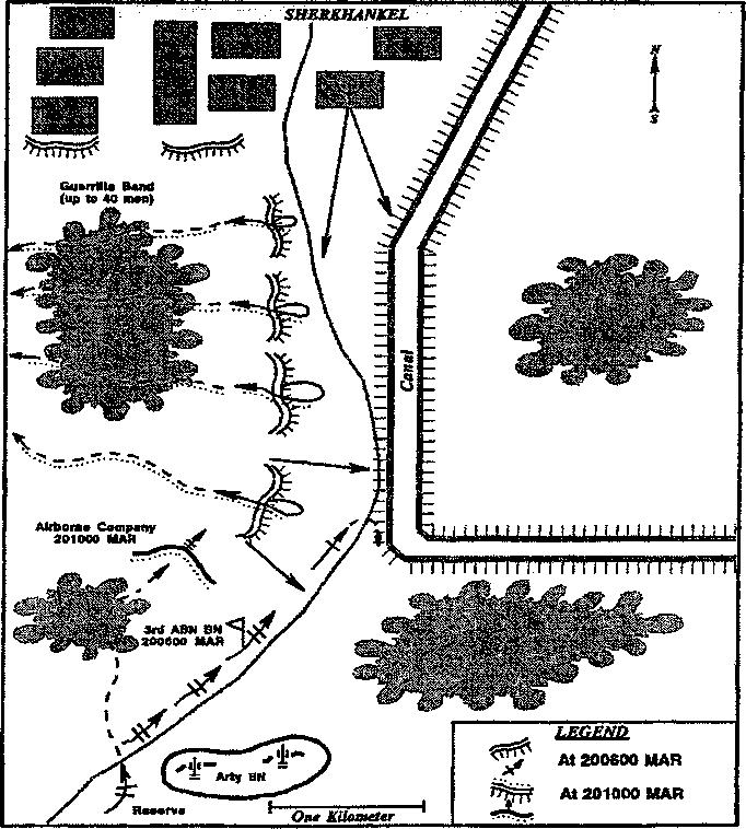 22 THE SOVIET-AFGHAN WAR Map 3. Raid on Sherkhankel opened fire with a grenade launcher at the reconnaissance platoon.