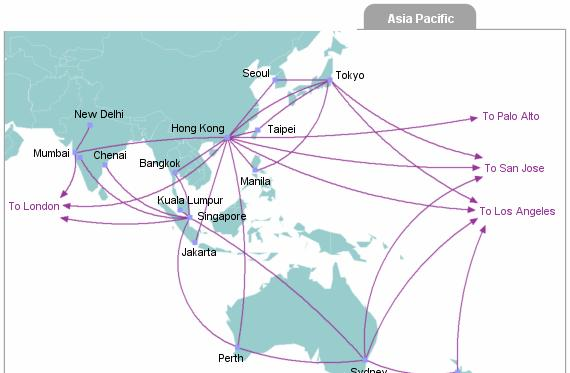 Asia has less cables on land,