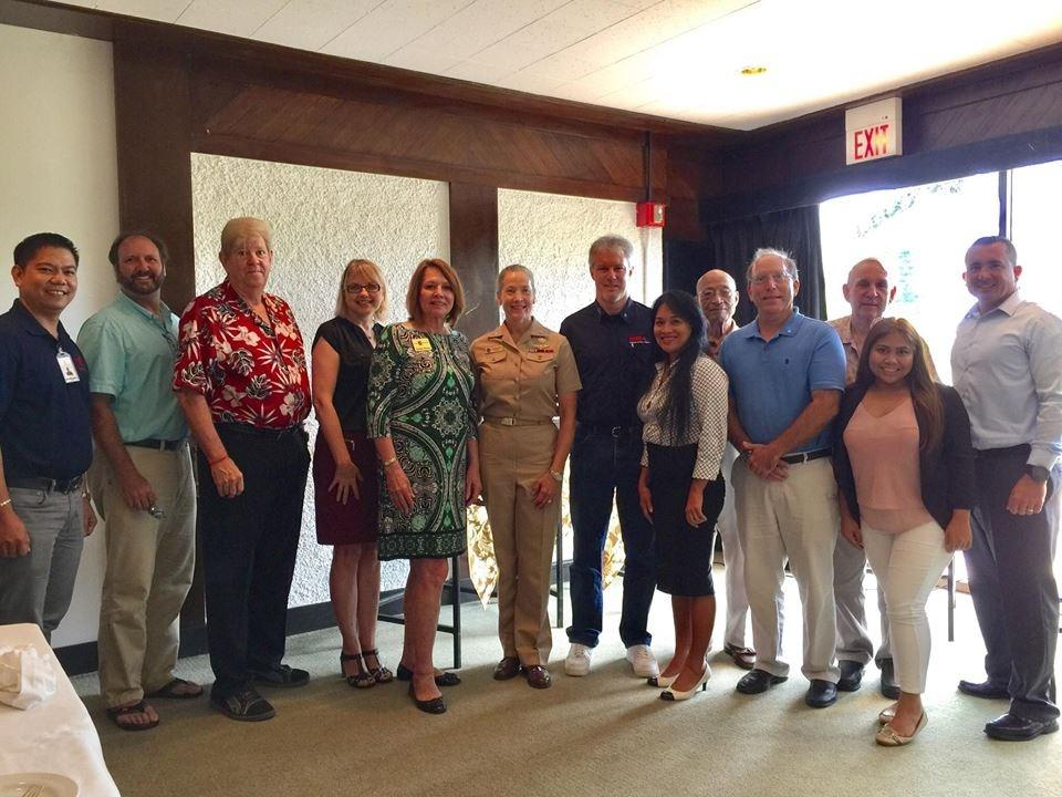 REAR ADMIRAL CHATFIELD & ARMED FORCES COMMITTEE The Armed Forces Committee met with Rear Admiral Shoshana Chatfield, Commander of Joint Region Marianas and Commander of U.S. Naval Forces Marianas at a luncheon meeting on July 03, 2017 at the Hyatt Regency Saipan.