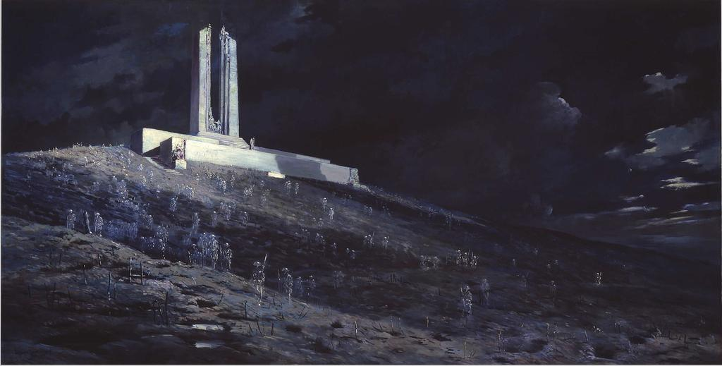 Results and Canadian Legacy The gleaming white marble and haunting sculptures of the Vimy Memorial,