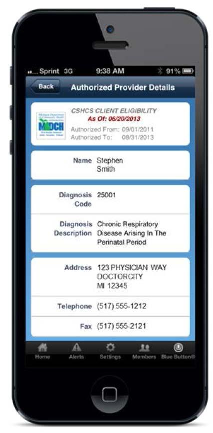 myhealthbutton is a free mobile app for Medicaid or CSHCS beneficiaries which allows clients to