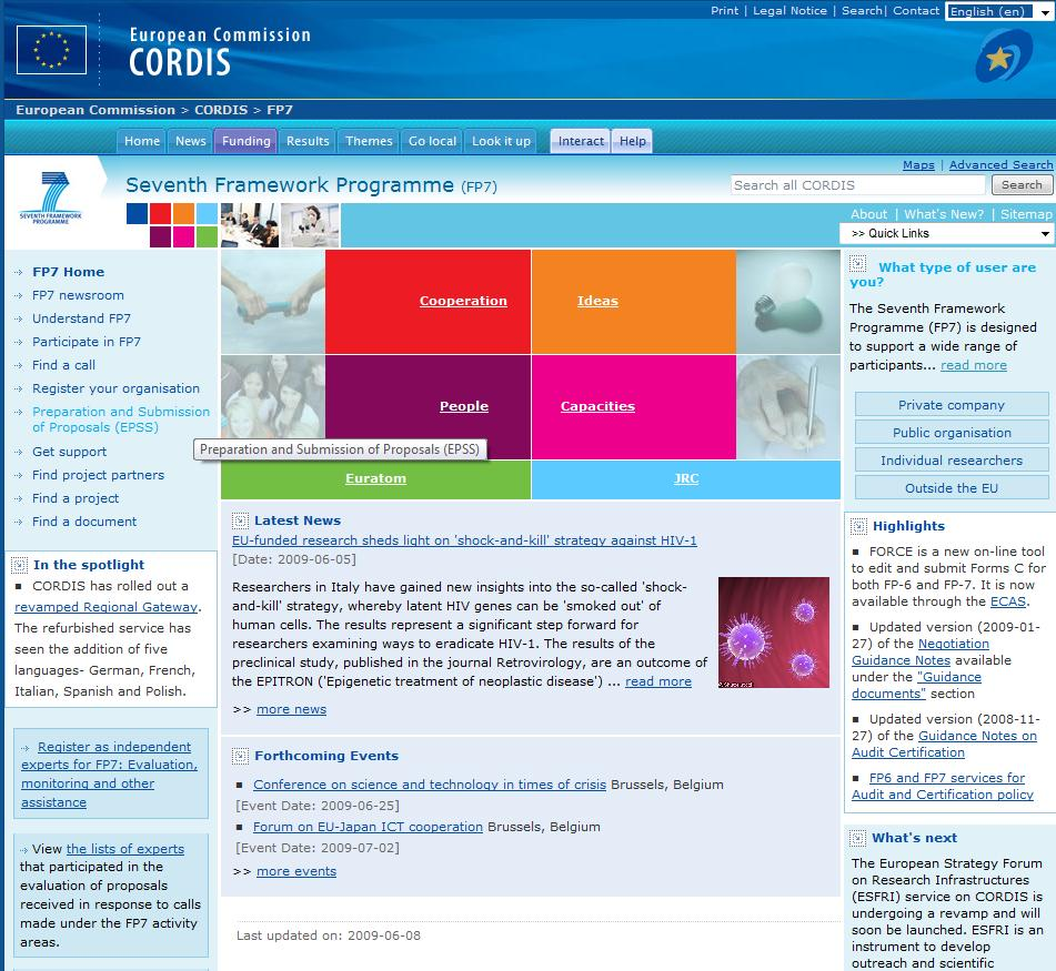CORDIS CORDIS, the Community Research and Development