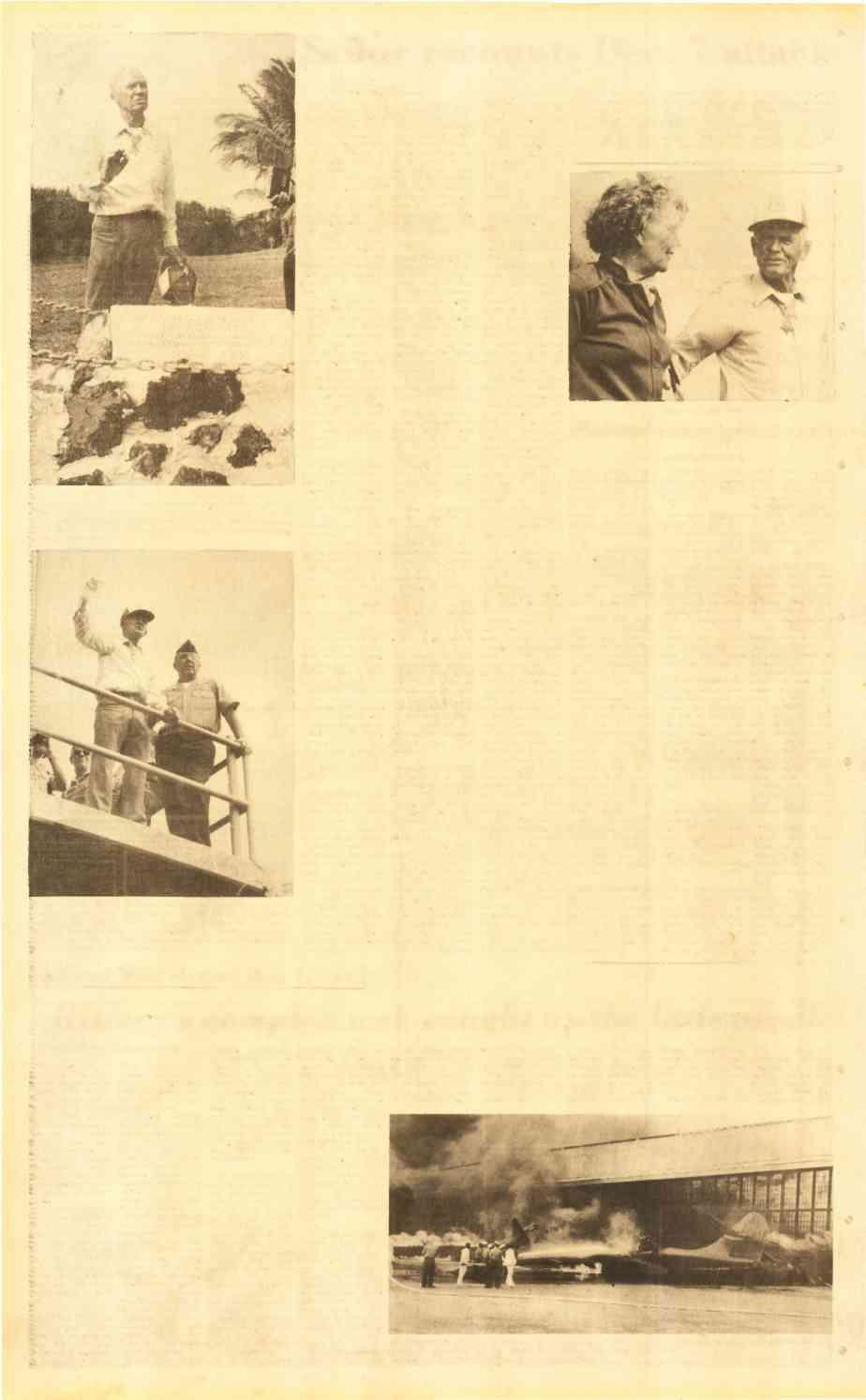 "Page A-6, Dec 2-198t Sailor recounts Dec 7 attack A CLAM NEVER MADE - "" never claimed that shot that plane down,"" said John Finn, recipient of themedal of Honor, ""but if missed it should have been"