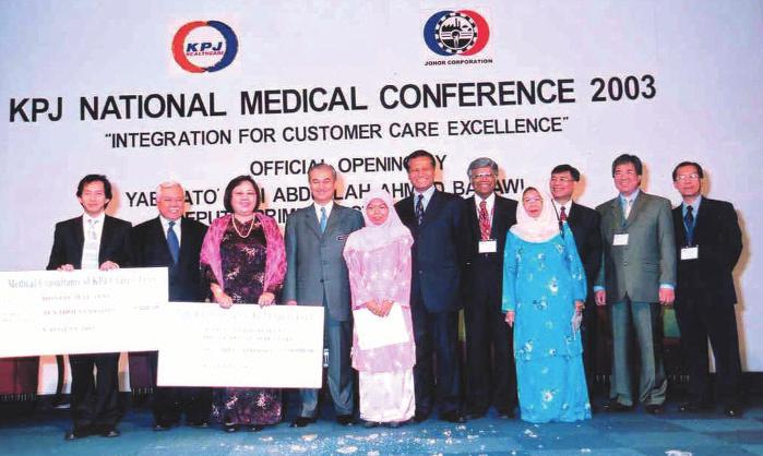 Leading, Giving and Sharing The doctors of KPJ Healthcare do not just dispense treatment and care. They do not confine themselves within the four walls of their clinics.