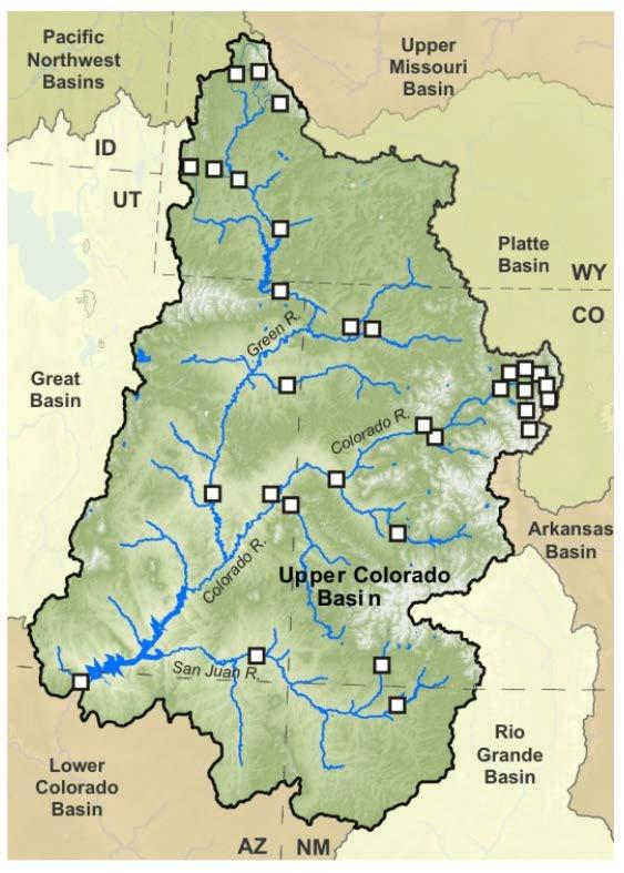 Upper Basin The Upper Colorado River Basin is the source of about 90% of the water in the Colorado River System, and is critical to the water supplies