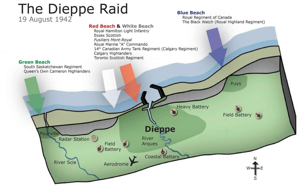 Engineer Gallantry on the Beaches of Dieppe By LCol Don Chipman, (Ret d) Background RUTTER becomes JUBILEE In 1942, British operational command conceived of a combined amphibious, airborne, naval and