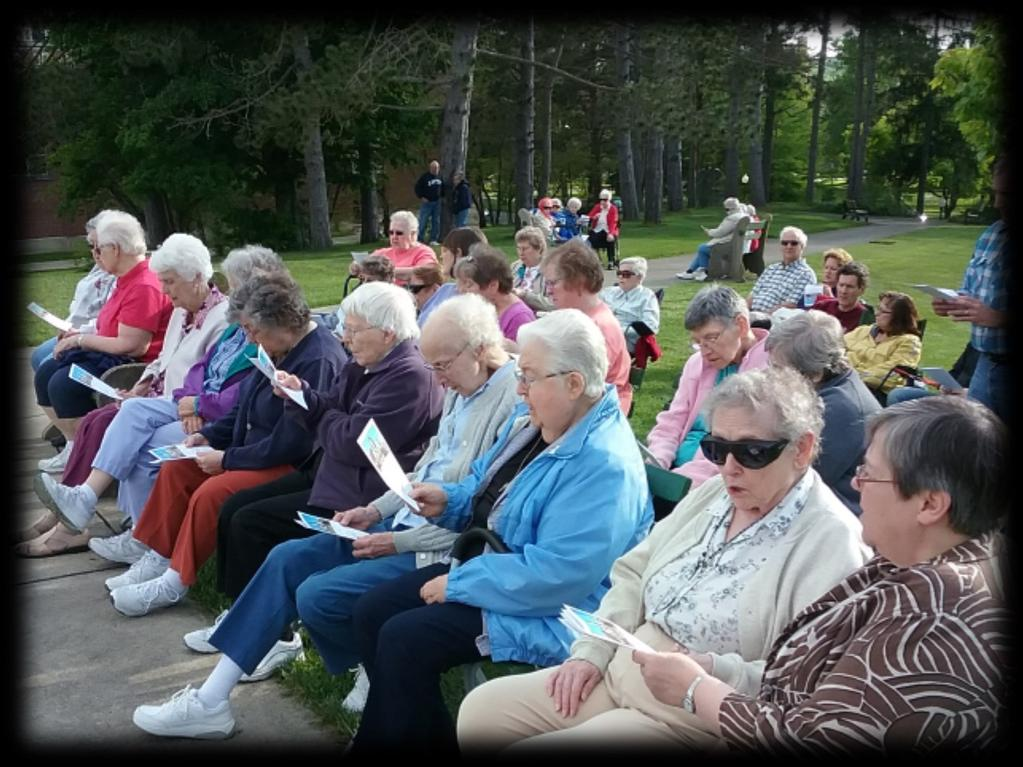 the Sisters invited the public to join them for May Devotions at the Our Lady of