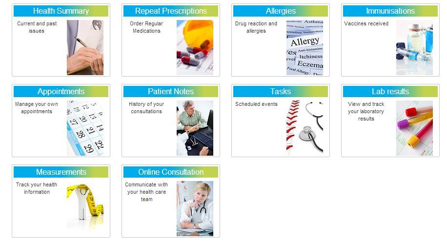 your dependents), click on the Patients Name you wish to view details for.