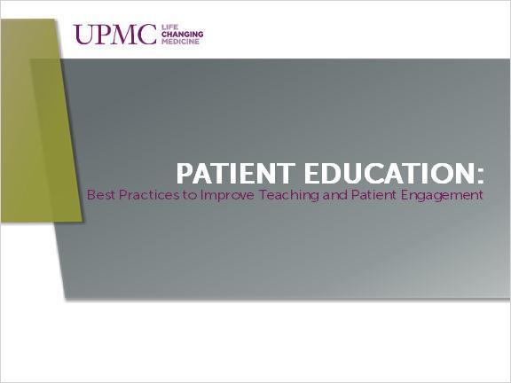 6. Patient Education