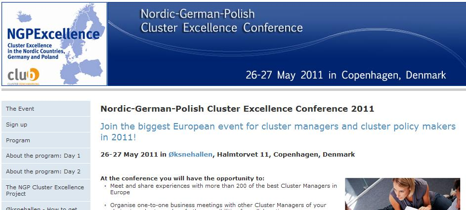 Cluster Conference May 26/27, 2011 in