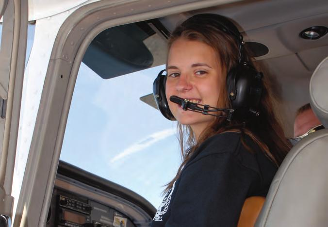 Many cadets receive their first flight in an airplane, thanks to CAP. Flying CAP's volunteer pilots share their love of flying with cadets.