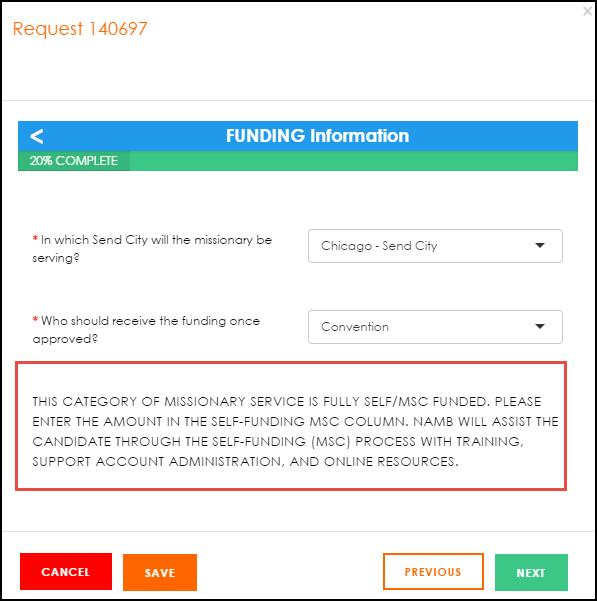 9. Complete the funding pages. Note: If you are creating more than one request with the same specifications, you can clone the request before you submit. See Cloning Requests. 10.