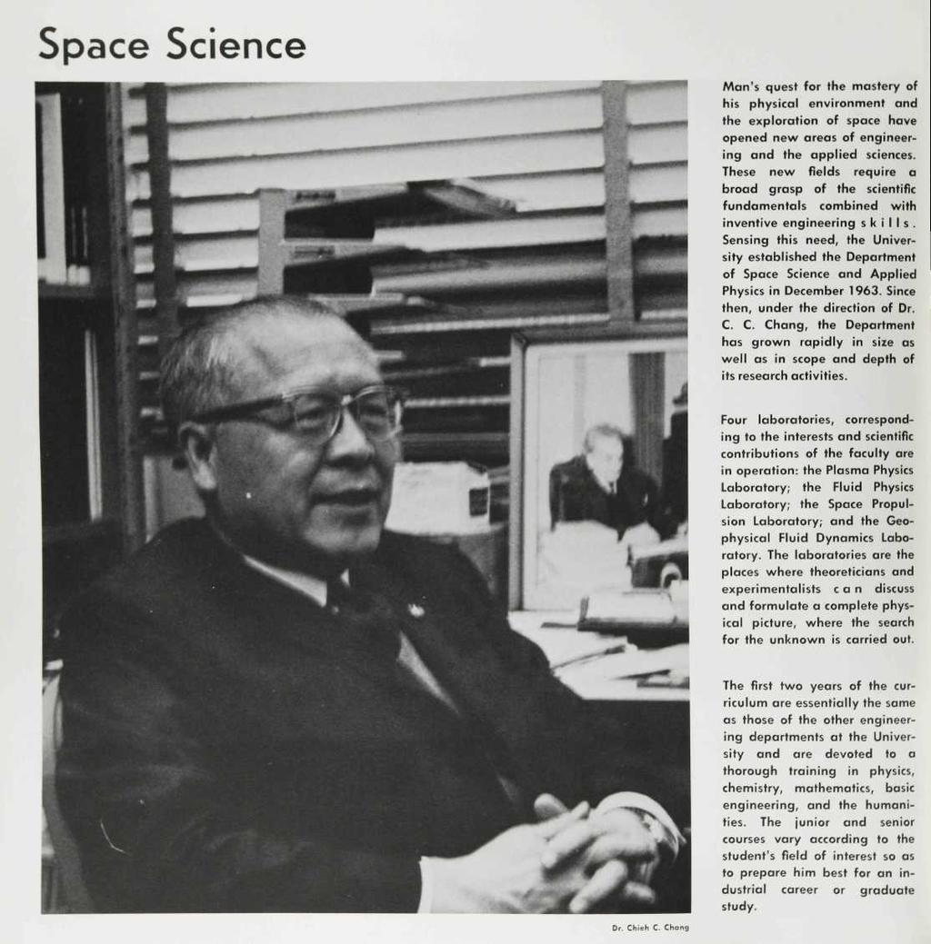 Space Science Man's quest for the mastery of his physical environment and the exploration of space have opened new areas of engineering and the applied sciences.