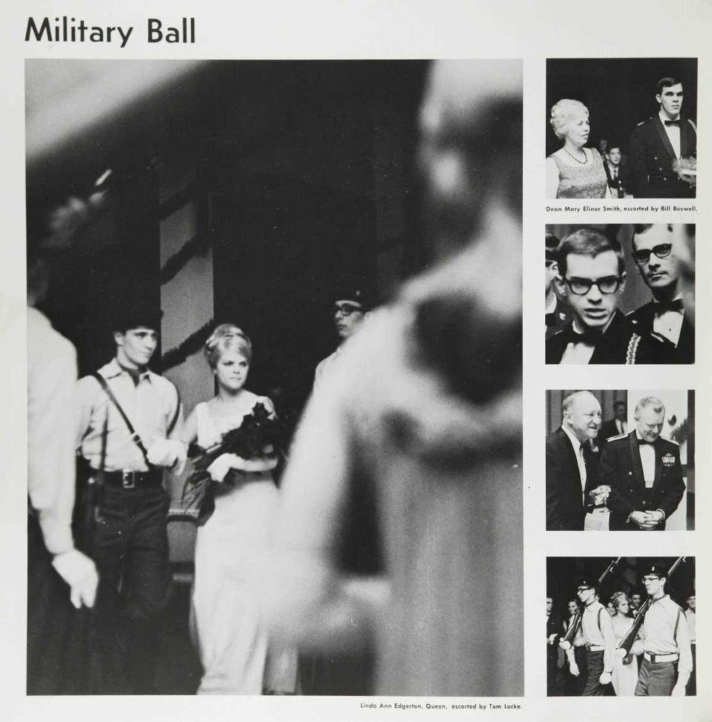 Military Ball Dean Mory Elinor Smith, escorted by Bill