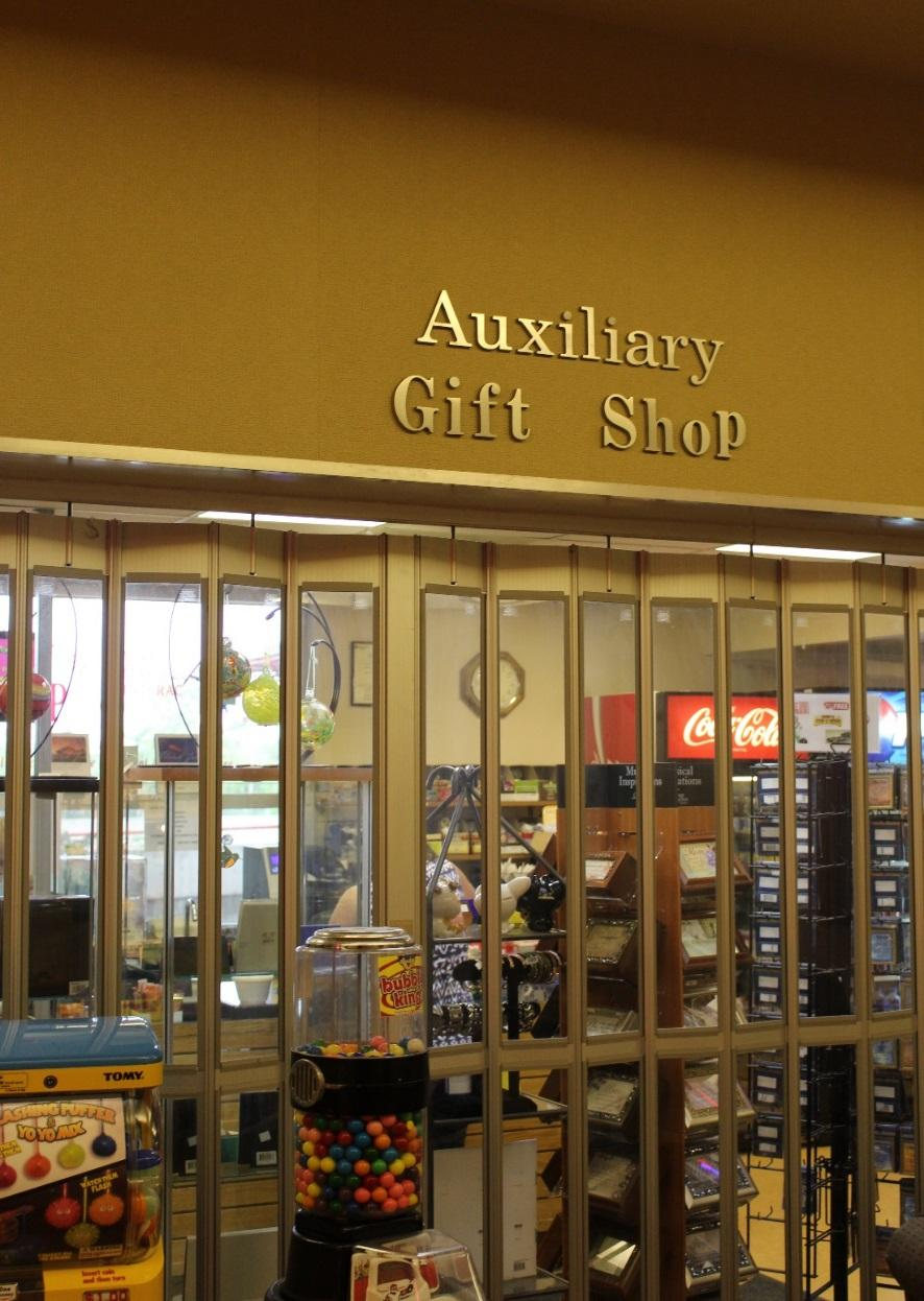 Gift Shop The QEII Auxillary Gift Shop has a variety of gifts, snacks, reading materials, and flowers and money raised is donated