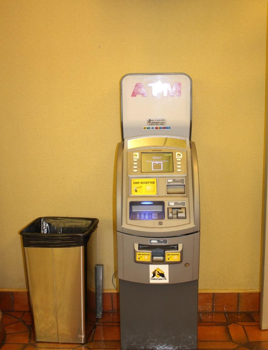 ATM ATMs are located on the main level by the