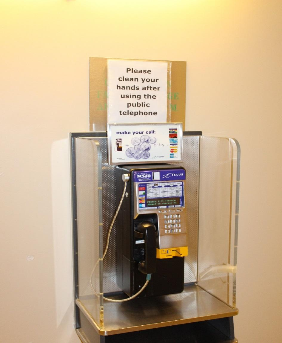 Phones Payphones are located throughout the hospital Cell phones may be used: o Outside the