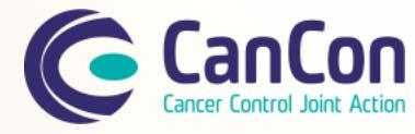 COMPREHENSIVE CANCER CONTROL JOINT ACTION CANCON In March 2014, the Comprehensive Cancer Control Joint Ac on (CanCon) kicked off in Luxembourg.