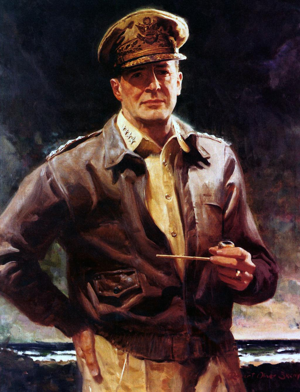 Douglas Macarthur General in charge of the Pacific Theater. Accepted Japan s surrender on September 2, 1945.