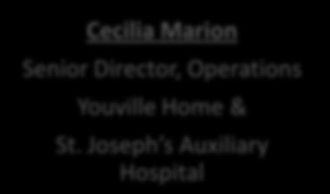 Direcr, Operations Youville Home & St.