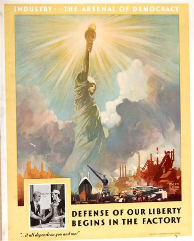 Building an Arsenal of Democracy -Name given to America s industrial mobilization for WWII -The U.S.