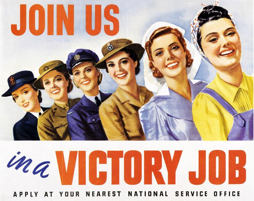 Women in WWII -Worked in defense plants and volunteered for war-related organizations -In