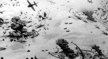 The Final Push Toward Japan Brings Heavy Losses The Allied push through the Pacific steadily shrank the defensive perimeter that Japan had established around the home islands.