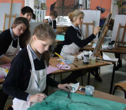 Art Scholarships Year 7 (11+), Year 9 (13+) and Year 12 (16+) Pupils enjoy opportunities such as meeting professional artists and taking inspiring trips to experience Art first hand.