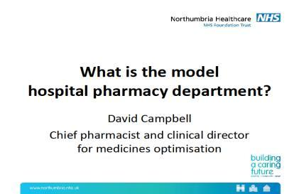 Links: https://www.england.nhs.uk/stps/ vi). Right time: efficiency and productivity what is the model hospital pharmacy department?