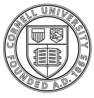 CORNELL UNIVERSITY EMERGENCY OPERATIONS PLAN Cornell