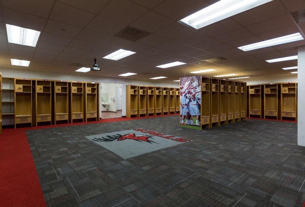 CAPITAL PROJECTS Team Locker Room Renovation Goal: $250,000 each Located in within several Fairfield facilities, Team Locker Rooms provide athletes with consistent space for team meetings, game
