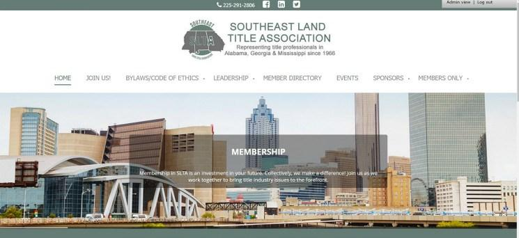 Page 5 SLTA S NEW WEBSITE As a part of our change of name and logo, SLTA recently updated the look of their website. The site includes cityscapes in Jackson, MS, Birmingham, AL and Atlanta, GA.