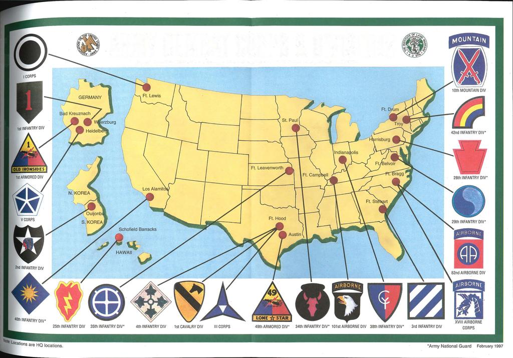 ARMY COMBAT CORPS & DIVISIONS Association of the United States