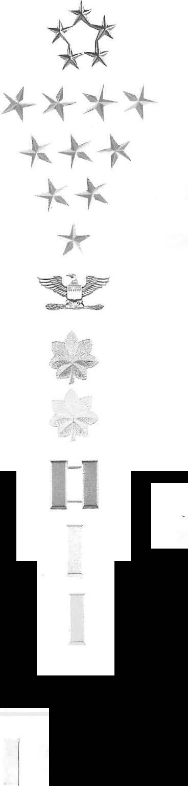 32 Profikof e Army -- APPENDIX A OFFICER & ENLISTED RANK INSIGNIA ARMY INSIGNIA OF RANK/PAY GRADE --. -r,_,..., ==-.