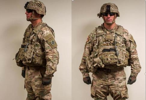 MARNE STANDARD FIELD/TACTICAL UNIFORM ACH With Marne Patch On Both Sides.