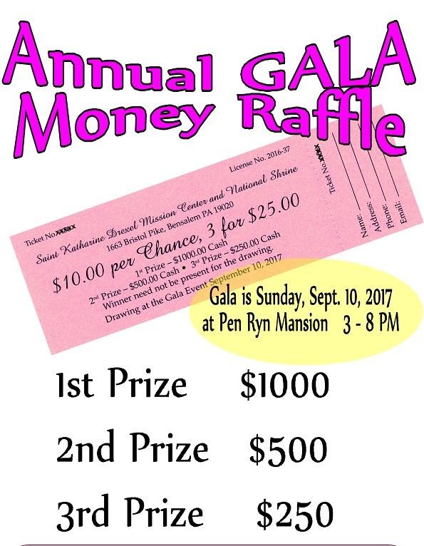 Sisters of the Blessed Sacrament Raffle tickets