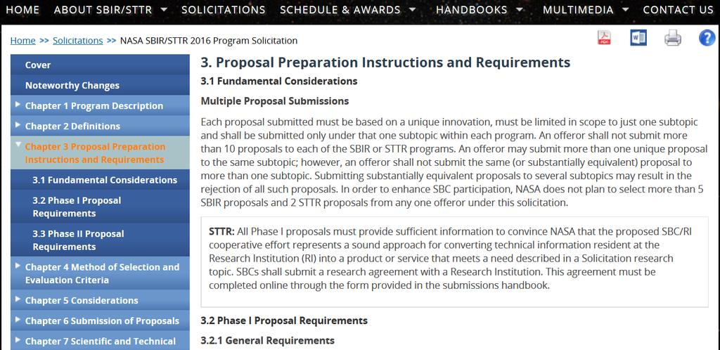 Proposal Requirements Click on 3.