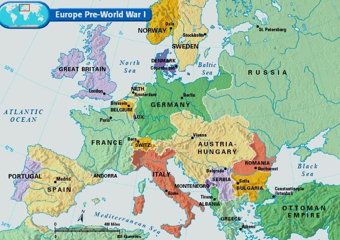From 1870 to 1914, the growth of militarism, alliances,
