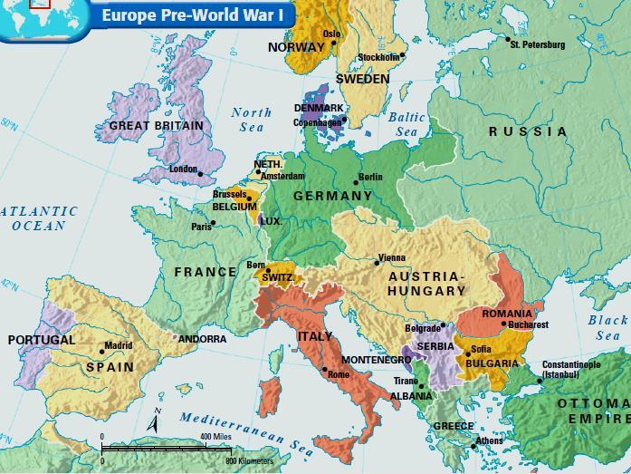 Text Europe at Europe the outbreak before the of