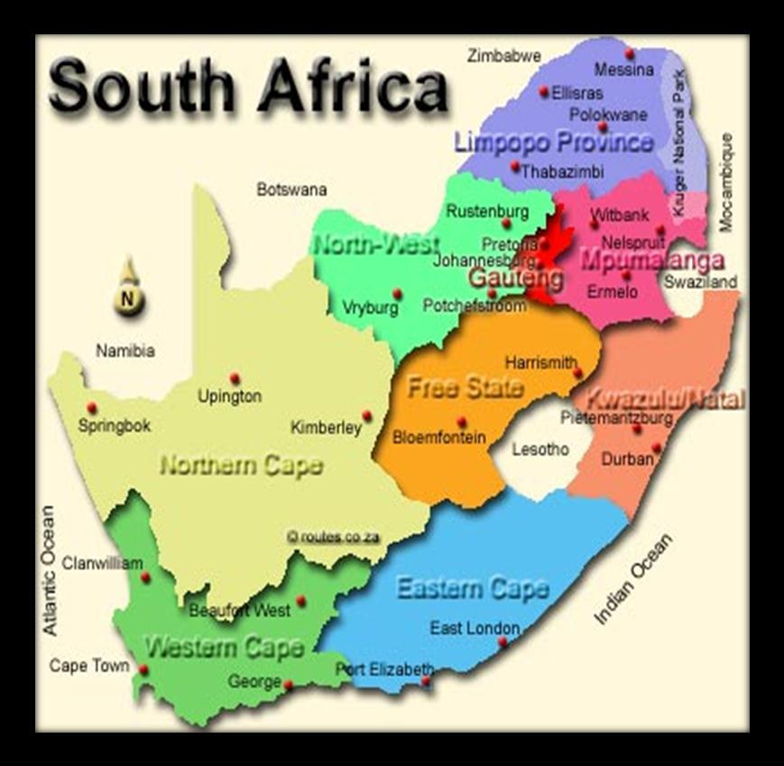 UNDERSTANDING THE Nine provinces North West Province (NWP)