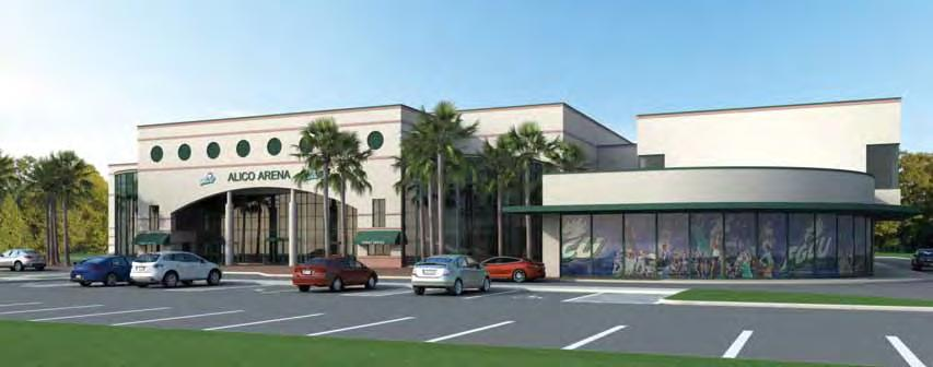 6 Architectural renderings show the Alico Arena addition