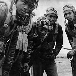 TUSKEGEE AIRMEN Among the brave men who fought in North