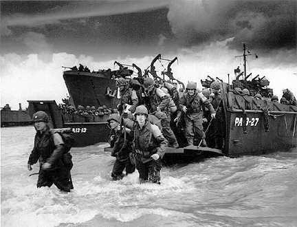 5. D-DAY JUNE 6, 1944 D-Day was an amphibious landing soldiers going from sea to land D-Day was the largest land-sea-air operation in military history Despite air