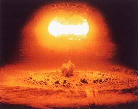 The Manhattan Project July 16, 1945: the first atomic bomb was detonated in an empty expanse of desert near Alamogordo, New Mexico A blinding flash was visible 180 miles away Followed by a deafening