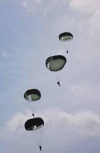 The Rhode Island National Guard facilitated a variety of other events for the international parachuting teams.
