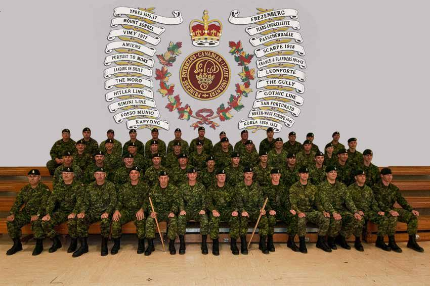 Members of the French Grey Battalion (14 Sept 2011) From Left to Right; Top Row; Sergeant J.A. Deas, Sergeant C.H. Morris, Sergeant S.M. Hynes, Sergeant J.D. Funk, Master Corporal C.A. Ruesen, Corporal D.