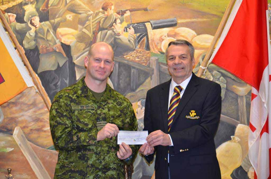 PPCLI Association gifts the Regiment by Capt R. Dumas As photographed, Vice President West, PPCLI Association, Mr.