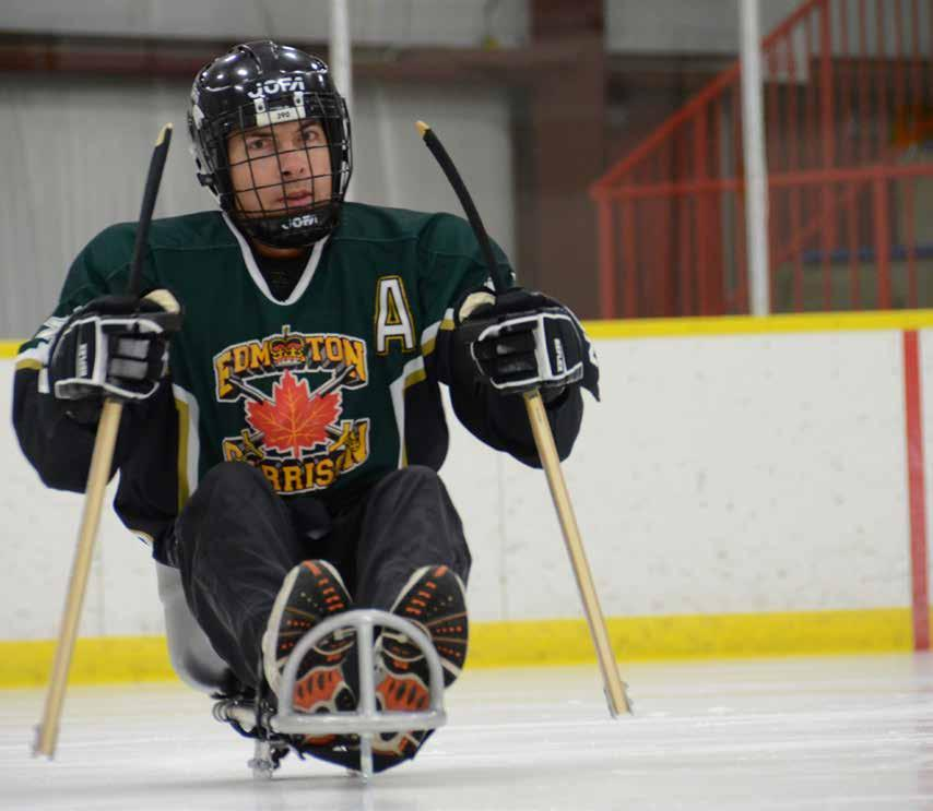 Sledge Hockey by Warrant Officer D. Shultz The Princess Patricia s Canadian Light Infantry takes every opportunity to enhance our wounded soldier s involvement in sporting events.