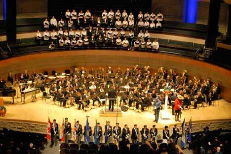 The Cosmospolitan Music Society of Edmonton performing the annual Lest We Forget concert at the Winspear Center. Photo: Cosmopolitan Music Society of Edmonton.
