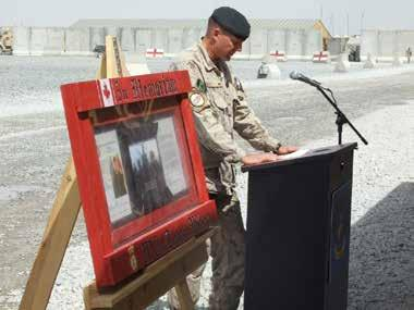 The Dedication of HLZ WILSON by LCol Tod Strickland When 1 PPCLI deployed to Kandahar Province in January 2006, they were fortunate to find their strength augmented by B Company of the Second